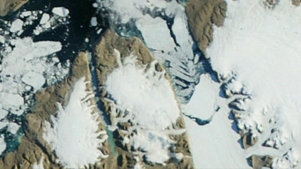 NASA image shows how the Petermann Glacier now looks