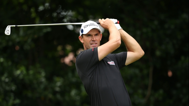 Padraig Harrington had a disappointing second round The Barclays in Farmingdale