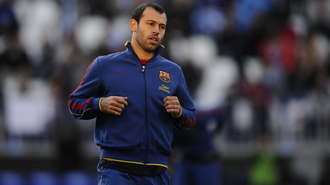Javier Mascherano looks set to see out his career with Barcelona