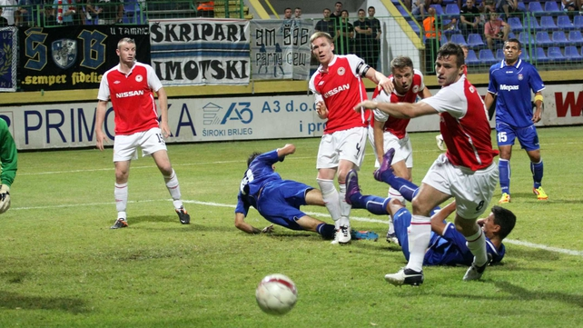 Pat's conceded a late goal against Siroki Brijeg last night