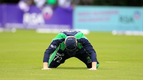 Niall O'Brien hangs his head during Wednesday's loss