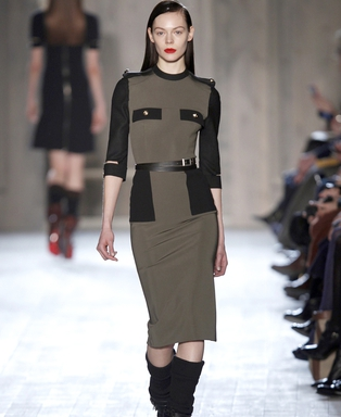 Victoria Beckham military style dress, €1650 at Brown Thomas