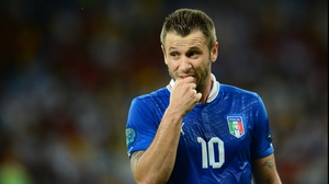 Antonio Cassano's hand was not the only part of his anatomy he put in his mouth at Euro 2012