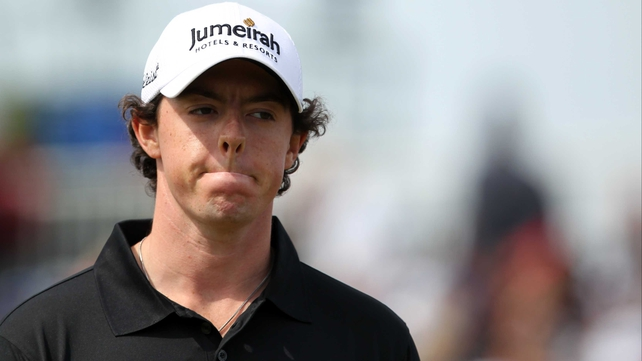 Rory McIlroy made three bogeys on the front nine and finished the day on five over