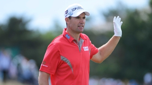Two-time Open champion Padraig Harrington's challenge fizzled out after a promising opening round