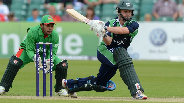 William Porterfield holed out off Mortaza for 28