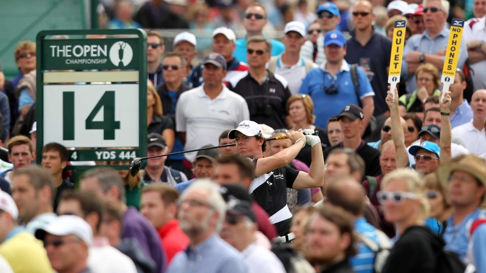 Rory McIlroy's attempts of landing a first Open faded fast despite an opening round 67
