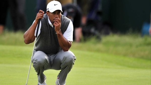 Tiger Woods shot four under in the opening round of the Tour Championship