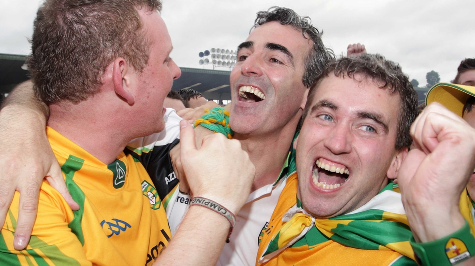 Donegal manager Jim McGuinness is congratulated by fans after his side won the 2012 Ulster title