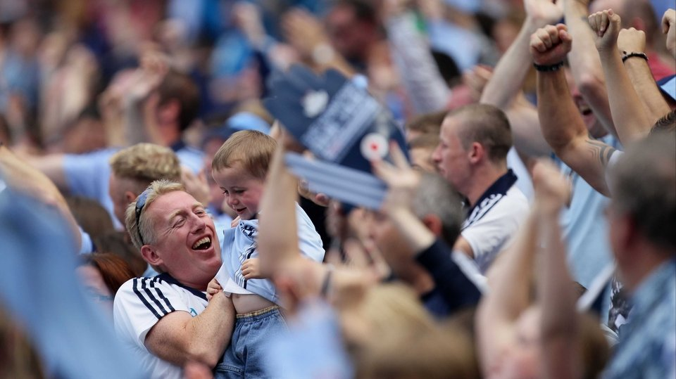Dublin supporters were in buoyant mood after their side's quick-fire goals