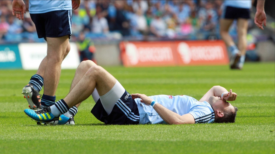 Dublin's Alan Brogan was forced off with a groin injury