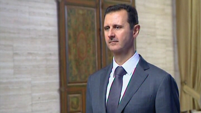 President Assad's forces battled to regain control in Daraya