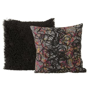 Penneys faux Mongolian fur and scribble cushions €6 each (late summer)