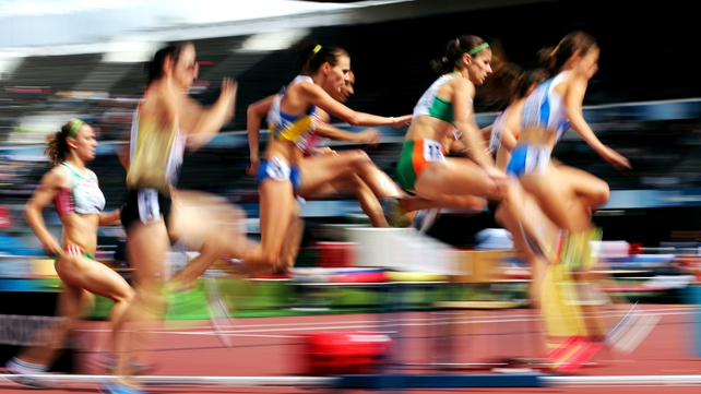 Stephanie Reilly competes in the women's 3,000m steeplechase semi-finals during day two of the 2012 European Championships