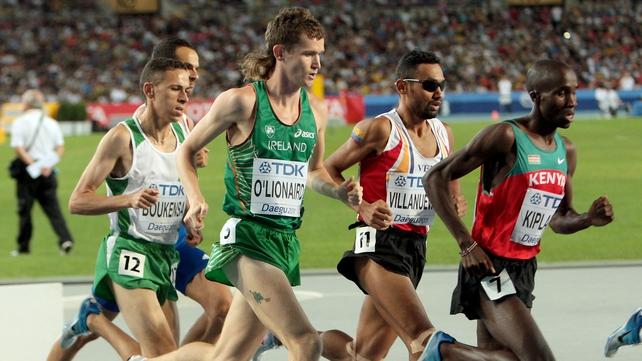 Ciaran O'Lionaird was tenth at the 2011 World Championships