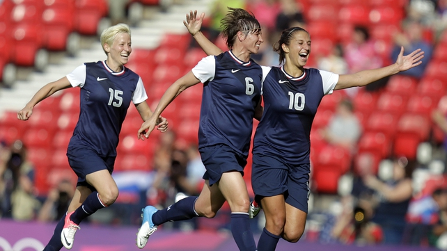 The USA came from 2-0 down to win 4-2 against France