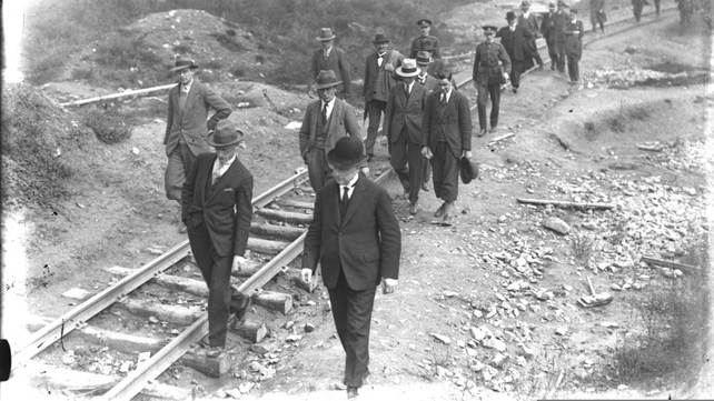 Liam Cosgrave visited the Ardnacrusha site in the 1920s (Pic: RTÉ Stills Library)