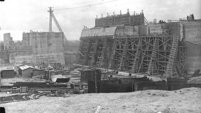 The Shannon Scheme hydro-electric project began in 1925 and finished in 1929 (Pic: RTÉ Stills Library)