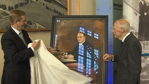 Taoiseach presented Liam Cosgrave with portrait of his father