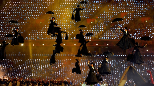 A flock of Mary Poppins was one of many original features of  the opening ceremony