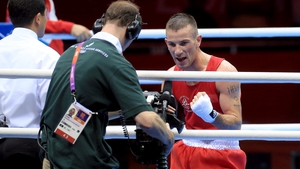 Day 1: John Joe Nevin was far too good for Dennis Ceylan of Denmark in the bantamweight round of 32, winning 21-6