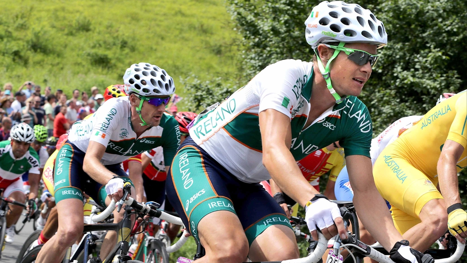 Day 1: David McCann and Nicolas Roche competed in the Men's Road Race for Ireland. McCann come home 55th, Roche was 89th