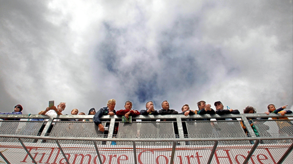 Spectators look on at O'Connor Park in Tullamore