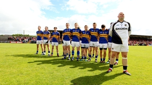 Tipperary goalkeeper Paul Fitzgerald and his team-mates before the game