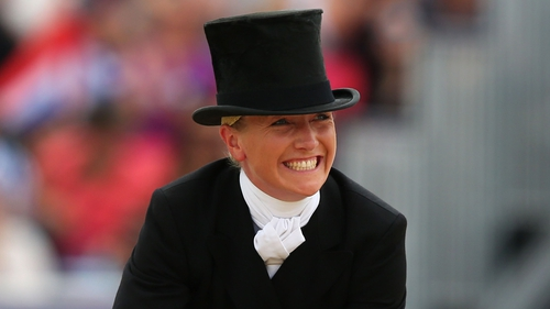 Aoife Clark is well-positioned after the opening phase of the Badminton Horse Trials