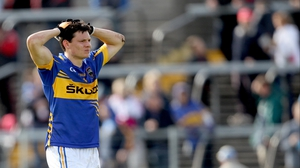 Tipperary's Ciaran McDonald shows his dejection at the final whistle after side fell to a 1-13 to 0-11 deafat