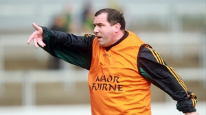 Meath manager Seamus McEnaney tried to rally his troops