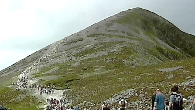 Annual Reek Sunday pilgrimage on Croagh Patrick, Co Mayo