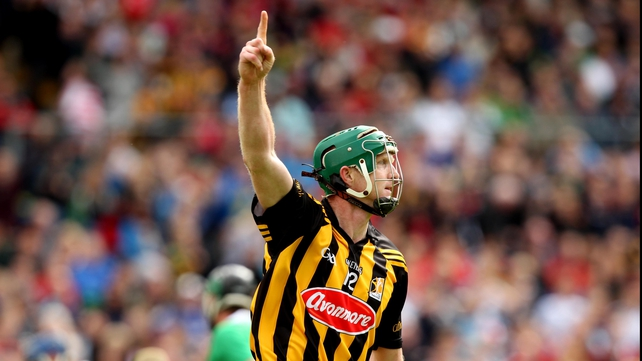 Kilkenny's Henry Shefflin celebrates the first of his two goals in his side's nine-point victory over Limerick