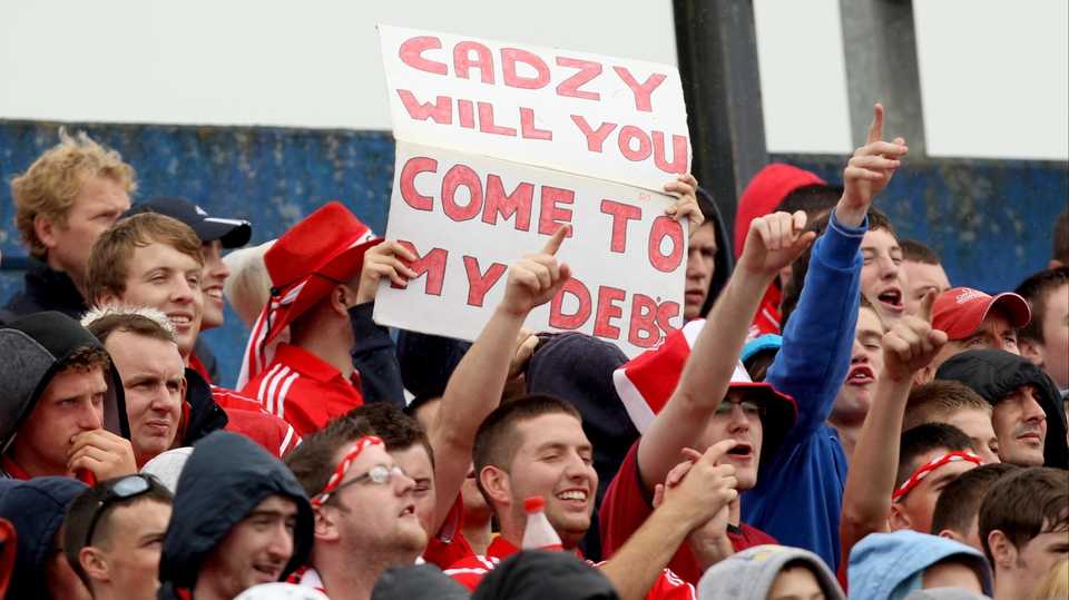 A Cork fan extends an invitation to Cork centre-back Eoin Cadogan (we reckon he might be busy training that night)