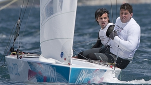 Day 2: Peter O'Leary and David Burrows started their Star class racing, and lay sixth after day one.