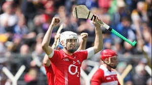 Cork midfielder Pa Cronin celebrates at the final whistle