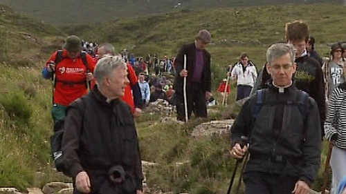 Archbishop of Tuam Dr Michael Neary led pilgrims with Papal Nuncio Archbishop Charles Brown