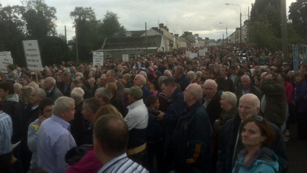 Several thousand people turned out in Ballyconnell