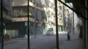 Empty streets in Aleppo