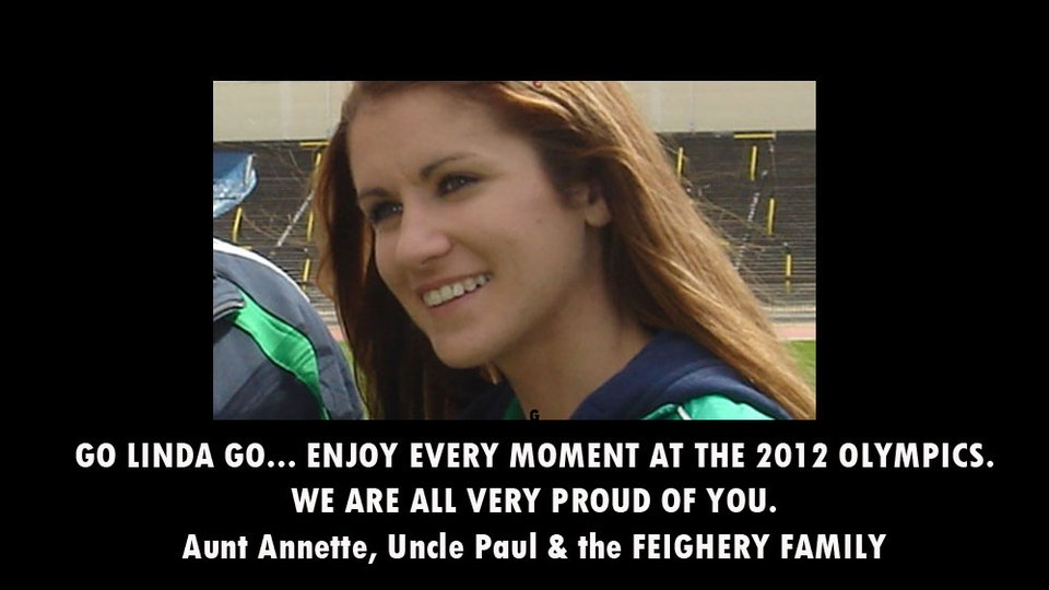 Linda Byrne, running in the London 2012 marathon, is sent well wishes from her family