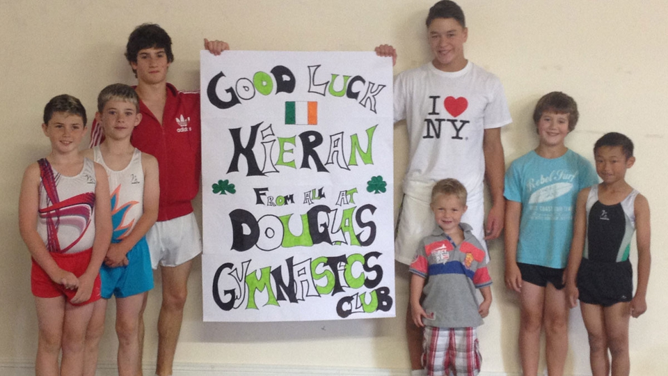 Douglas Gymnastics Club sending good luck wishes to Olympian Kieran Behan