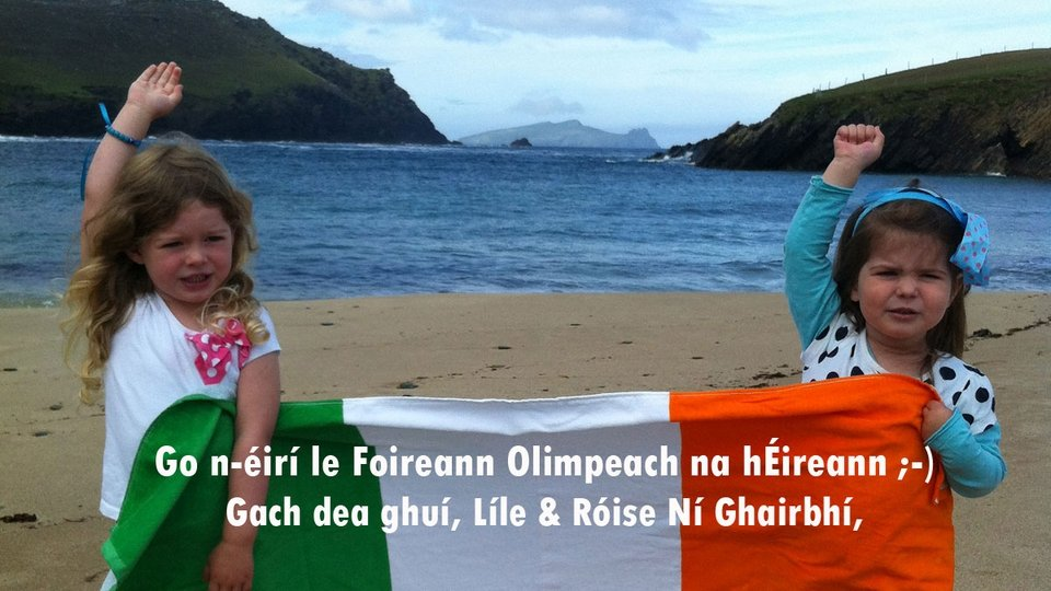 The Ní Ghairbhí girls in Dingle are supporting Team Ireland