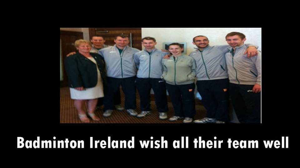 Badmington Ireland sends its team to London with all their best