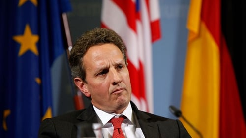 The informal meeting was requested by Timothy Geithner's department
