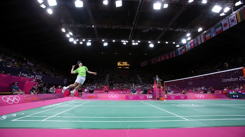 Scott Evans in action at the Olympics this afternoon
