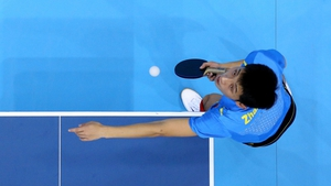 Men's Singles Table Tennis final - Pictured is Zhang Jike of China