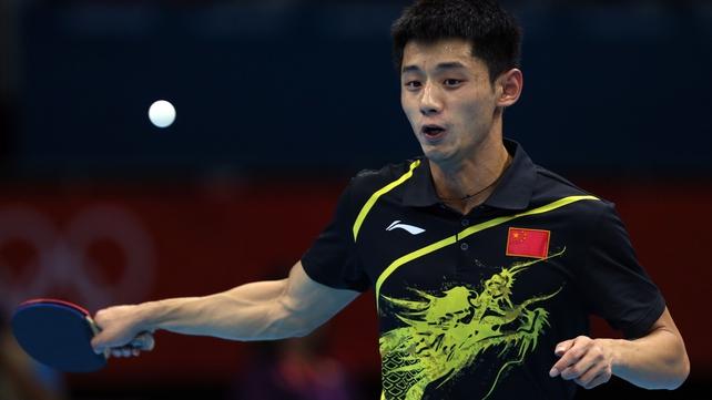 Zhang Jike faces Jiang Tianyi in the quarter-finals