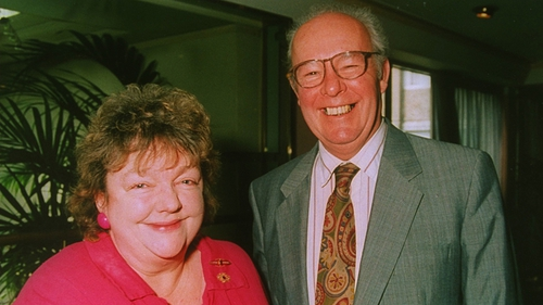 Maeve Binchy with her husband Gordon Snell