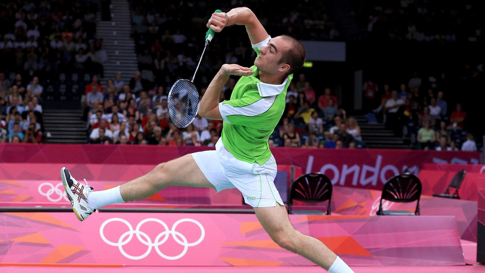 Day 3: Scott Evans was beaten in his match with world number one Lin Dan and exited the Games