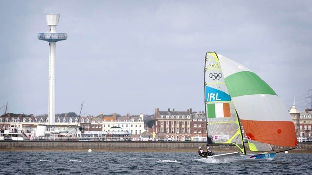 Ryan Seaton and Matt McGovern lie ninth overall in the 49er class